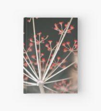 Red Fireworks. Botanical Abstract. Dark Floral Hardcover Journal