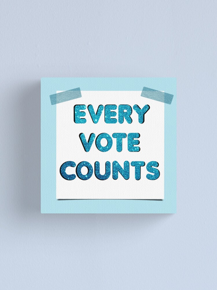 Alternate view of Every Vote Counts Canvas Print