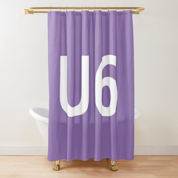 U6 Berlin U-Bahn Symbol Shower Curtain
