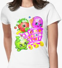 Shopkins basket 4 Womens Fitted T-Shirt