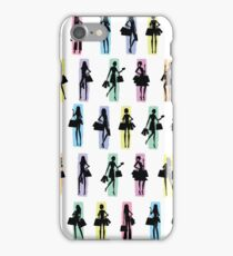 Women shopping silhouettes illustrations iPhone Case/Skin