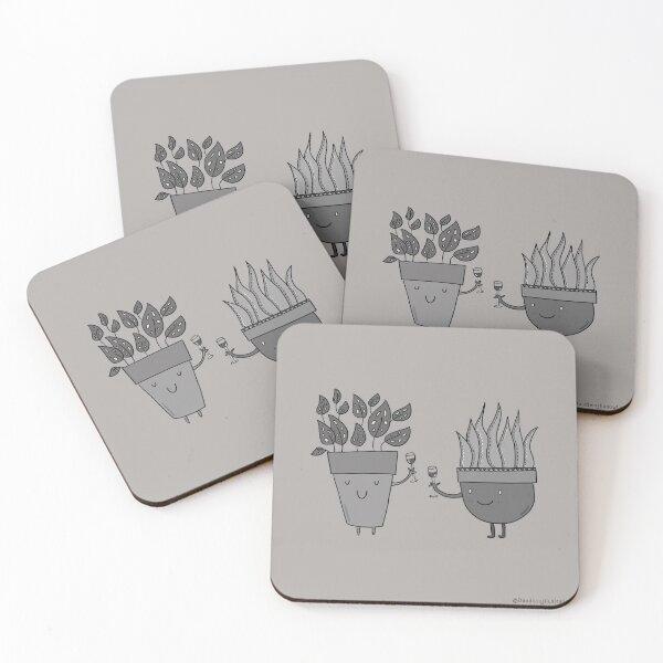 Cheering Plants Coasters (Set of 4)