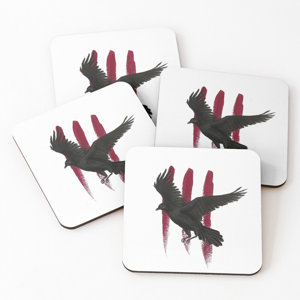 Schitt's Creek - The Crows Have Eyes 3: The Crowening - Acrylic Painting Coasters (Set of 4)