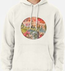 Vintage Hawaii Travel Colorful Hawaiian Tropical Collage Pullover Hoodie