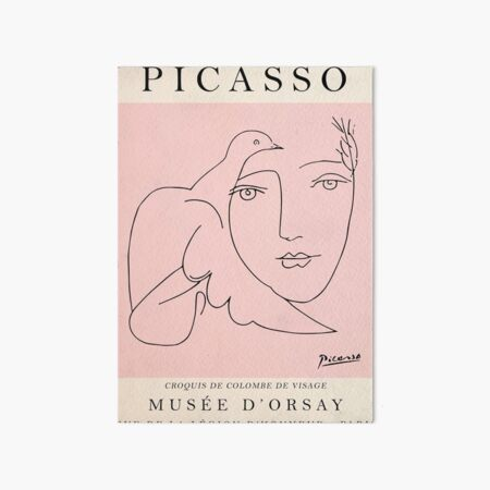 Best Selling Picasso Vintage Art Board Print