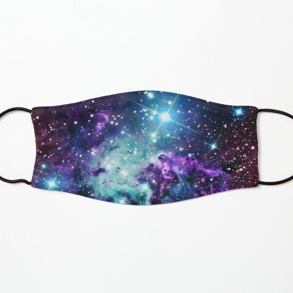 Fox Fur Nebula Teal Turquoise Purple Kids Mask