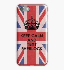 Keep Calm And Text Sherlock iPhone Case/Skin