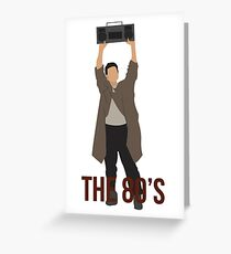 Say Anything - Famous Boombox Scene Greeting Card