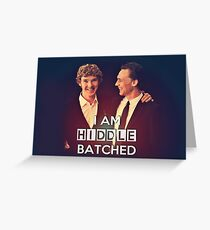 Hiddlebatched Greeting Card