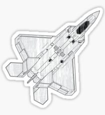 F 22 Stealth Fighter Jet Sticker