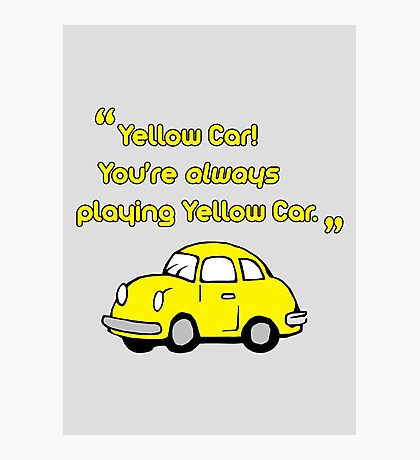 Yellow Car Photographic Print