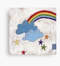 The stars and the rainbow Canvas Print