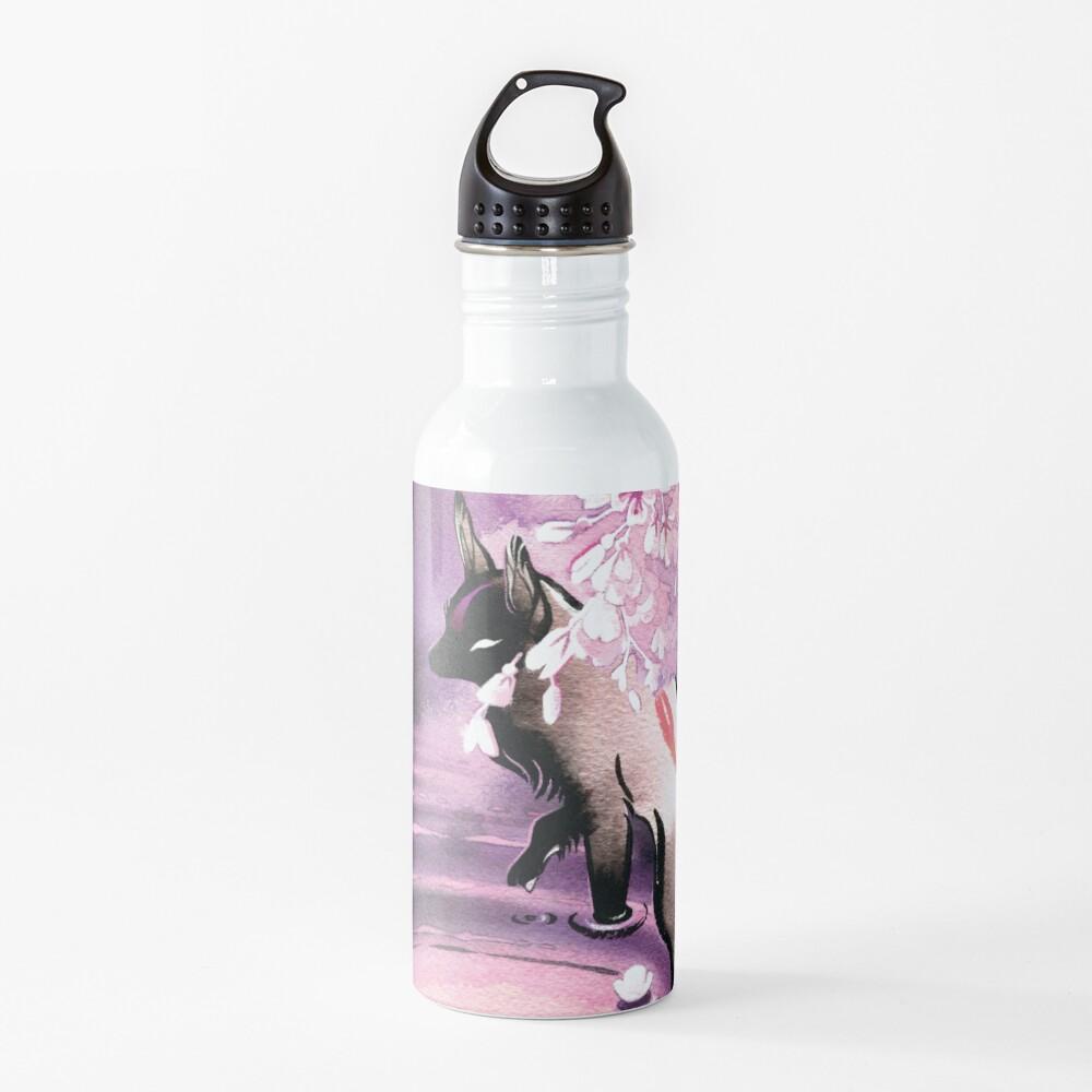 Rose Moon Sakura Blossom Fox Water Bottle