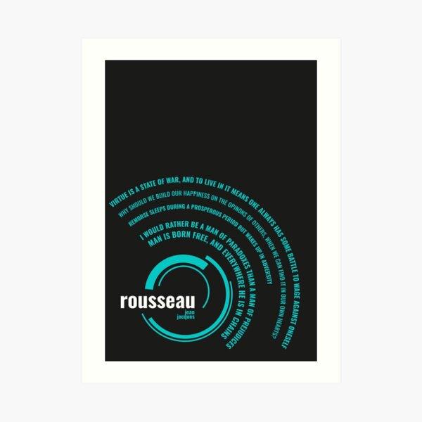 Jean Jacques Rousseau quotes typographic poster Art Print