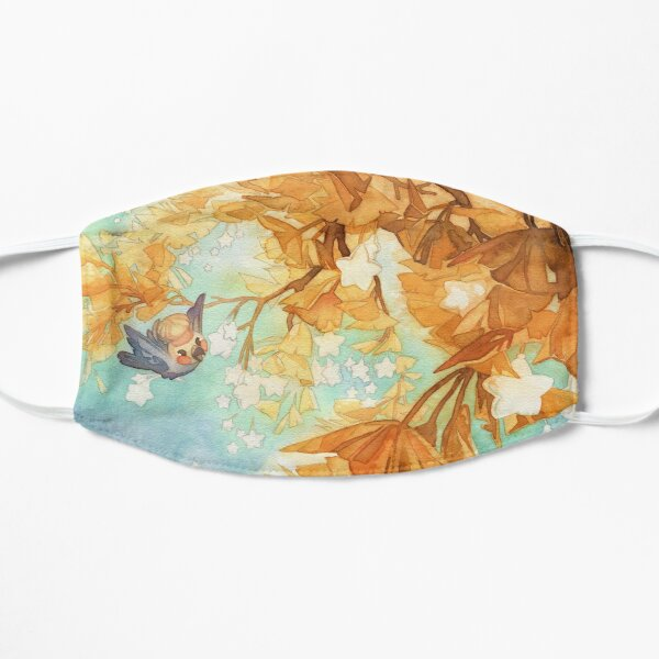 Ginkgo Leaves Cockatiel Birb in Watercolor Mask