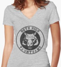 HOTH HIGH TAUNTAUNS Women's Fitted V-Neck T-Shirt