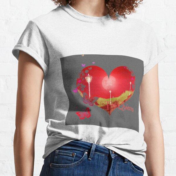 Damen Kurzarm Girlie T-Shirt Amor-Engel Valentinstag Liebe angel Herz Geschenk
