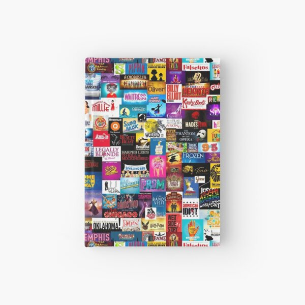 Broadway Show Logo Collage Hardcover Journal