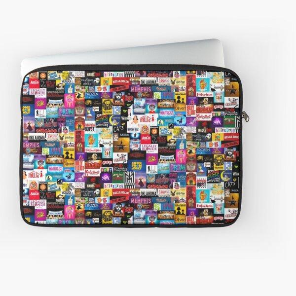 Broadway Show Logo Collage Laptop Sleeve