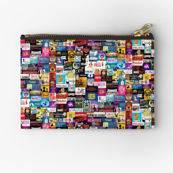 Broadway Show Logo Collage Zipper Pouch