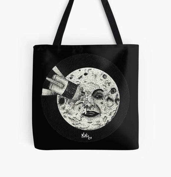 Viaje a la luna Bolsa estampada de tela