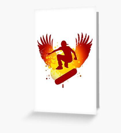 skateboarding hi-fi Greeting Card