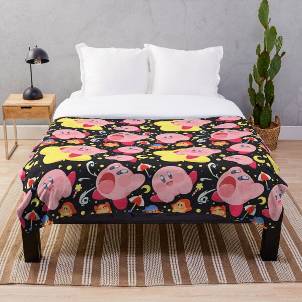 Kirby Pattern Throw Blanket