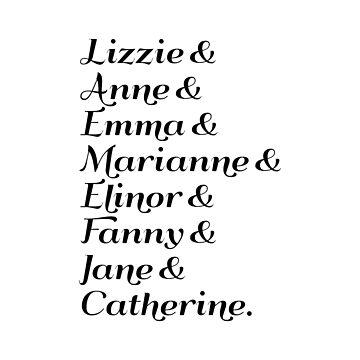 Austen's Heroines by misfitkismet