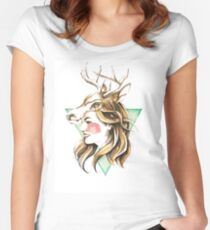 Deerly Women's Fitted Scoop T-Shirt