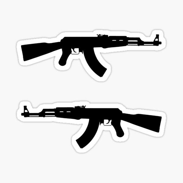 AK-47 Sticker Pack / Sticker Set (Black Version) Sticker