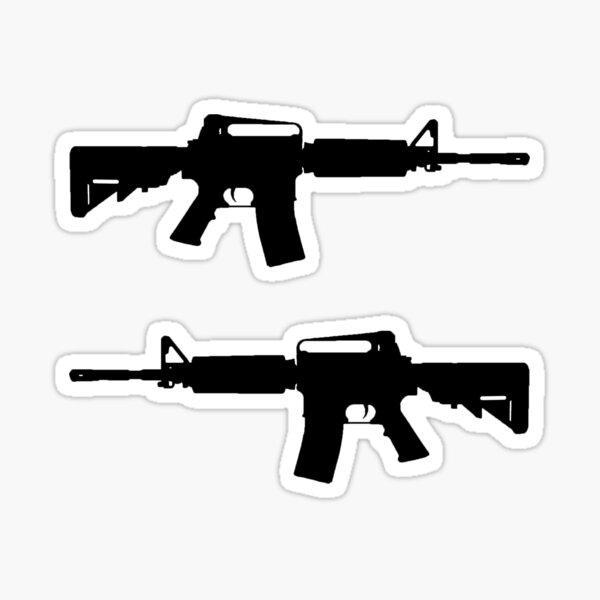AR-15 Sticker Pack / Sticker Set (Black Version) Sticker