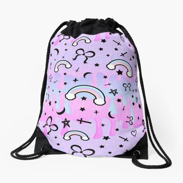 Cute Melting Pastel Chaos Drawstring Bag