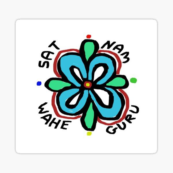 SAT NAM WAHE GURU Sticker