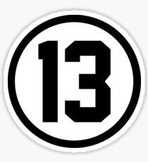 Number Thirteen Sticker