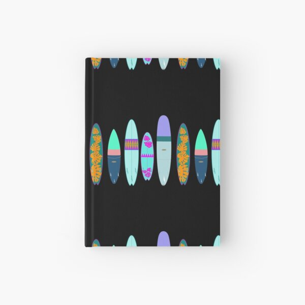 Surf boards Hardcover Journal