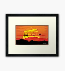 Attack on Takodana Framed Print