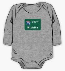 Wichita, Highway Sign, Kansas One Piece - Long Sleeve
