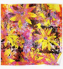 Flower in Black Square 13- Digitally Altered Print  Poster
