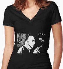 Christopher Hitchens - Religion Women's Fitted V-Neck T-Shirt