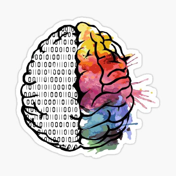 Artistic Brain - Two Sides  Sticker