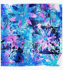 Flower in Black Square 11- Digitally Altered Print  Poster