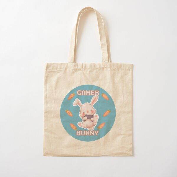 Gamer bunny Cotton Tote Bag