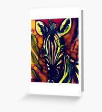 Regenbogen Zebra Grußkarte