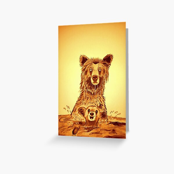 bear with a sore head Greeting Card