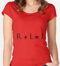 R + L = J Women's Fitted Scoop T-Shirt