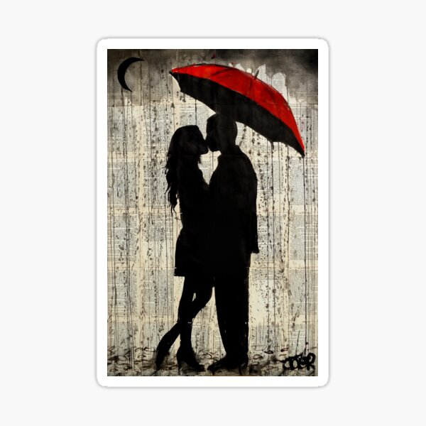 rainy day love Sticker