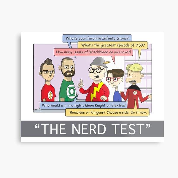 Mega Dads: Nerd Test Metal Print