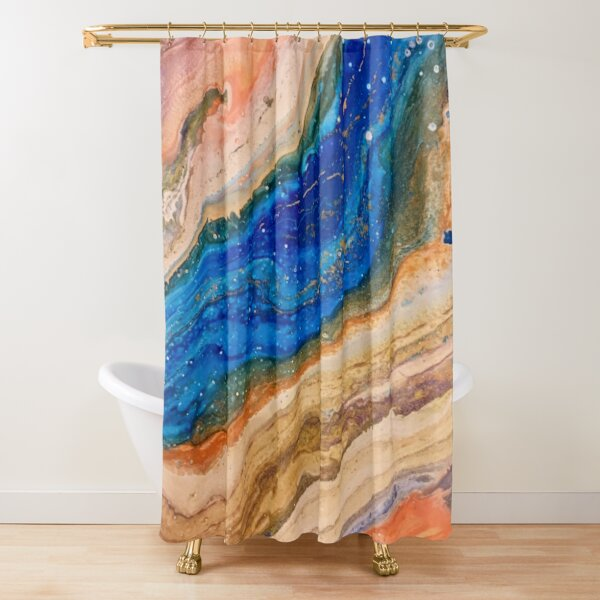 River Flow Shower Curtain