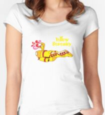 Yellow Serenity Women's Fitted Scoop T-Shirt