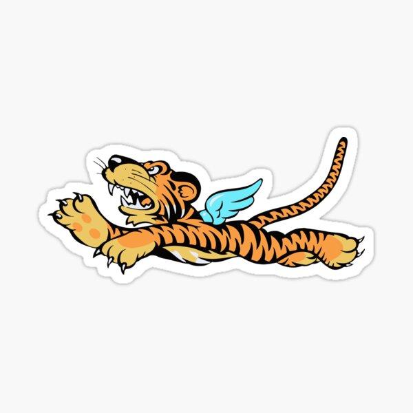 Fliegende Tiger WWII Logo Sticker